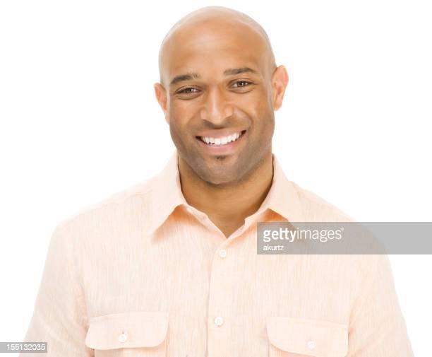 Attractive Adult black man smiling happy