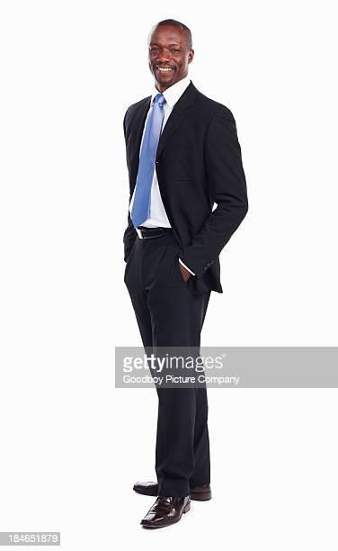 Attractive African American un hombre de negocios Sonriendo