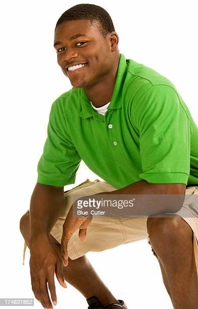 attractive african american male - handsome black boy stock photos and pictures