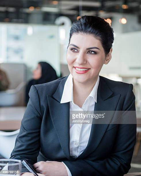 Attractive Arab businesswoman in modern office