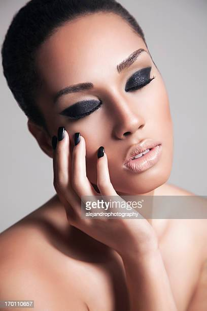 attractive beauty - beautiful puerto rican women stock photos and pictures