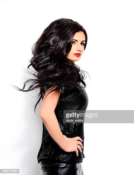 attractive black hair woman