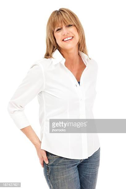 Schöne lässig Frau reiferen Alters