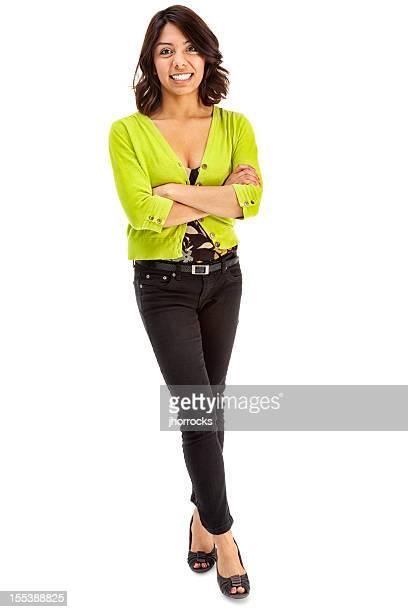 Lässig junge attraktive Hispanic Frau