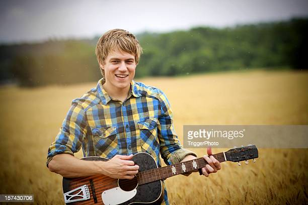 attractive guitar portraits