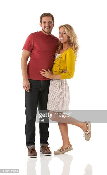 Attractive happy young couple in love