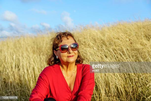 Attractive Hispanic senior woman portrait