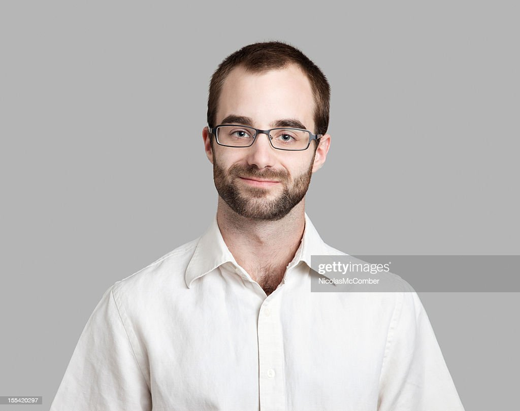 Attractive Intellectual young Man : Stock Photo