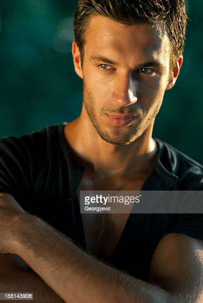 attractive male model - sexy male torso stock pictures, royalty-free photos & images