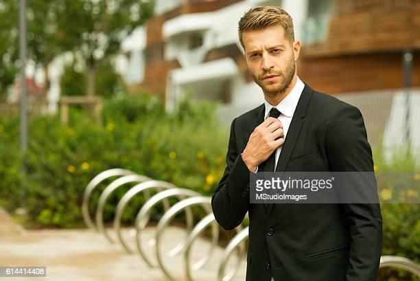Attractive man in suit.