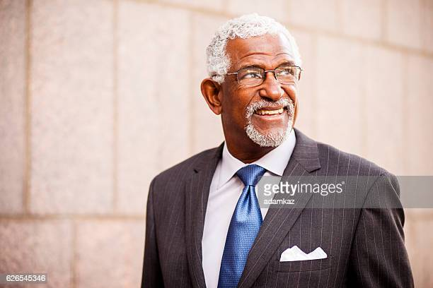 Attractive Senior African American Business Man
