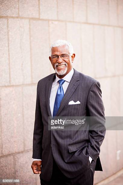 Attractive Senior African American Business Man
