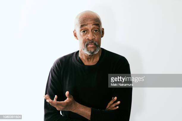 attractive senior black man portrait - facial expression stock pictures, royalty-free photos & images