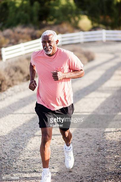 Attractive Senior Man Jogging