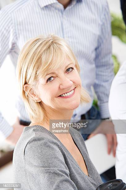 Attractive Smiling Woman Looking At Camera