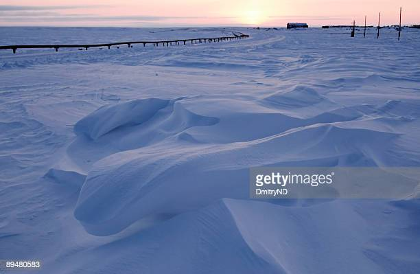 Attractive snowdrift.