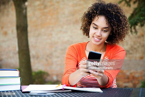 Schöne student SMS