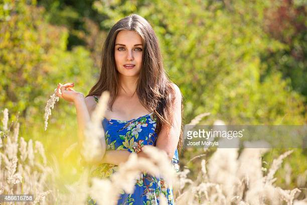 Attractive woman in nature