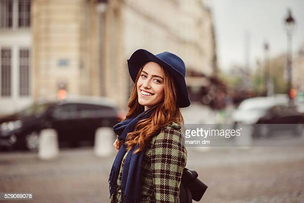 Attractive woman sightseeing in Paris