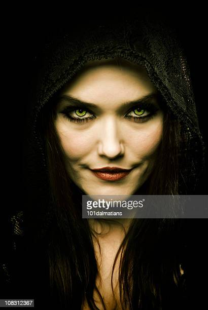 Attractive woman that looks demonic