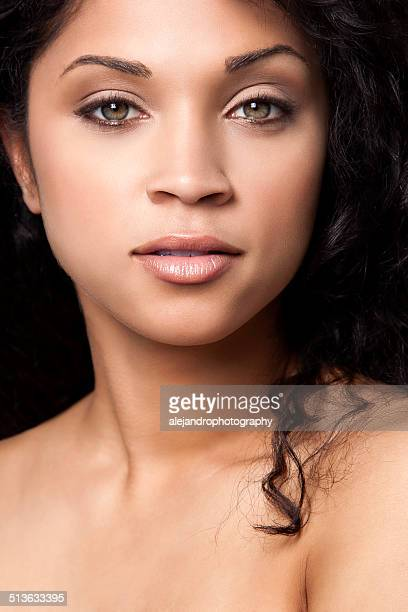Attractive woman with green eyes