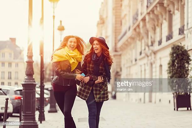 Attractive women sightseeing in Paris