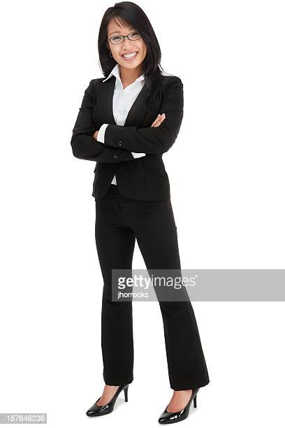attractive young asian businesswoman - black shoe stock pictures, royalty-free photos & images