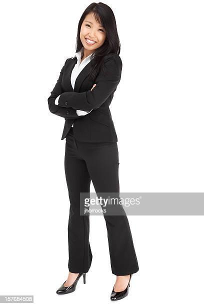 魅力的な若いアジアビジネスウーマン - 足を開く ストックフォトと画像