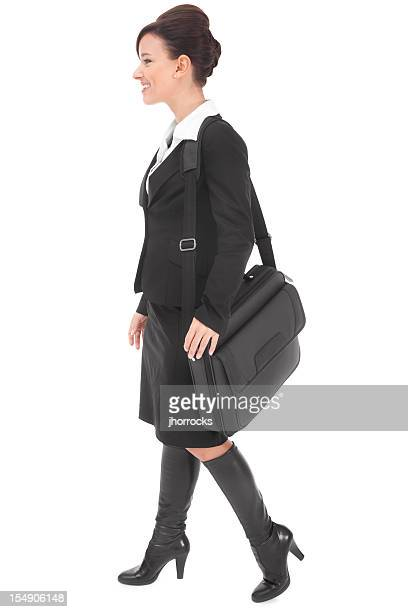 Attractive Young Businesswoman with Laptop Case