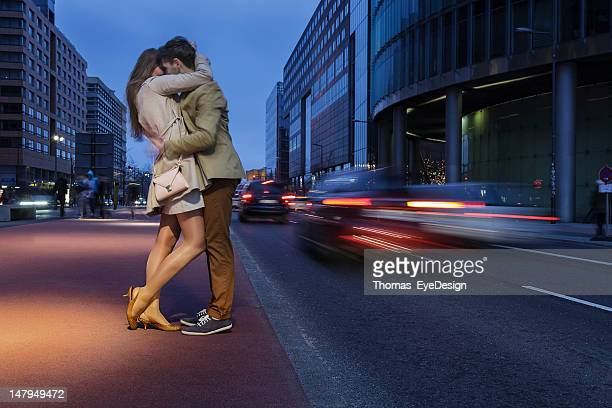 Attractive Young Couple on Potsdamer Platz Berlin