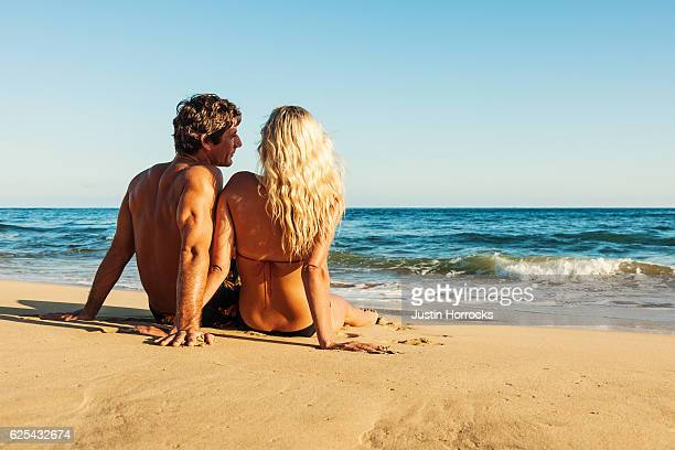 Attractive Young Couple on Romantic Getaway Vacation