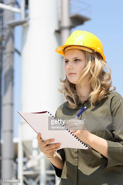 Attractive young female engineer