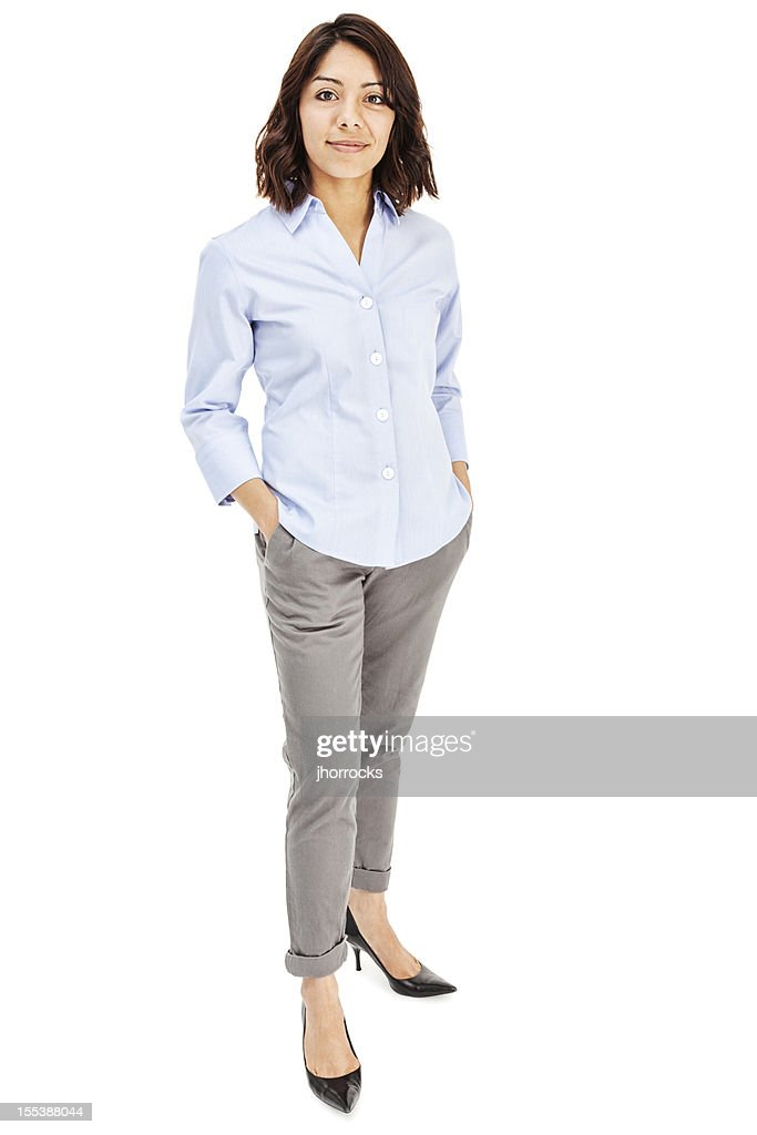 Attractive Young Hispanic Businesswoman : Stockfoto