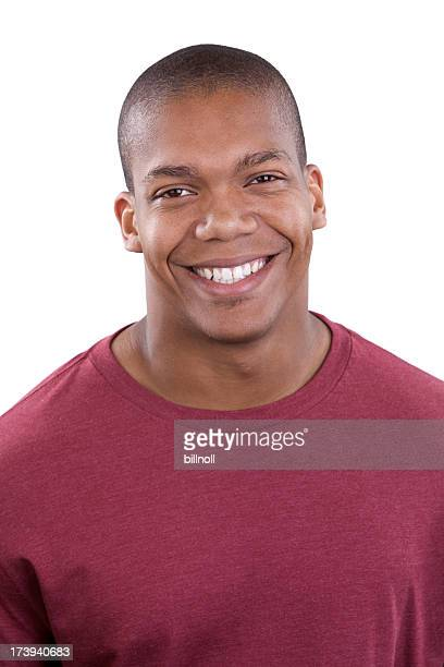 Attractive young male smiling at camera