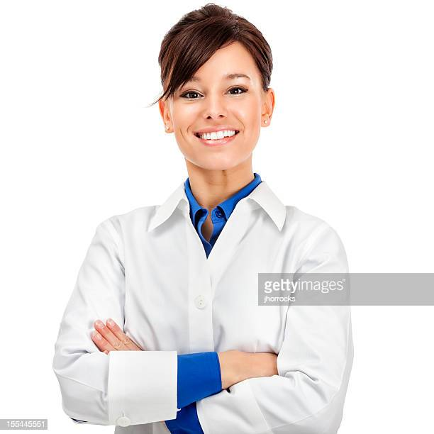 attractive young medical worker - laboratory coat stock photos and pictures