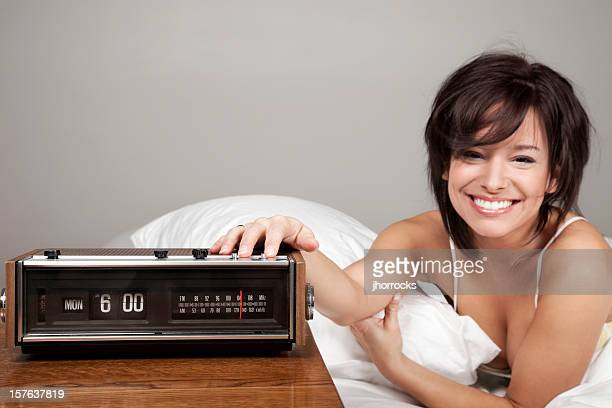 Attractive Young Woman Happy on Monday Morning