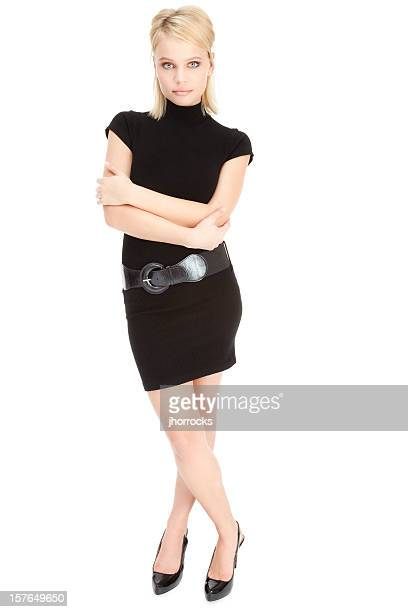 Attractive Young Woman in Little Black Dress
