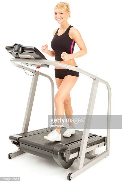 Attractive Young Woman on Treadmill