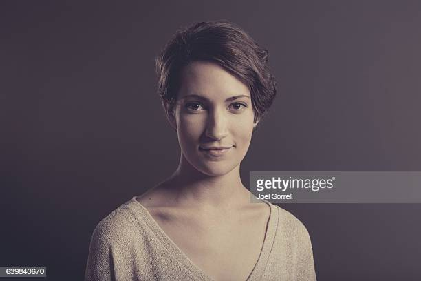 attractive young woman - clavicle stock photos and pictures