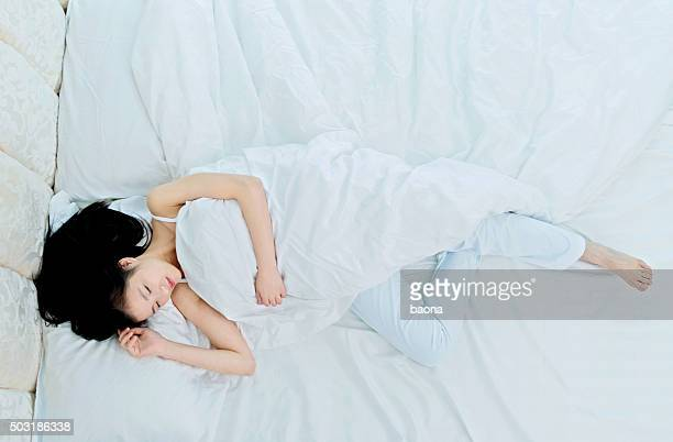 Attractive young woman sleeping