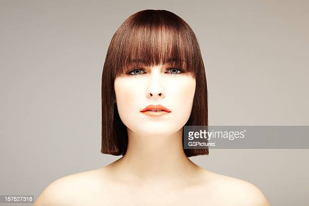 Attractive Young Woman with Bob Haircut