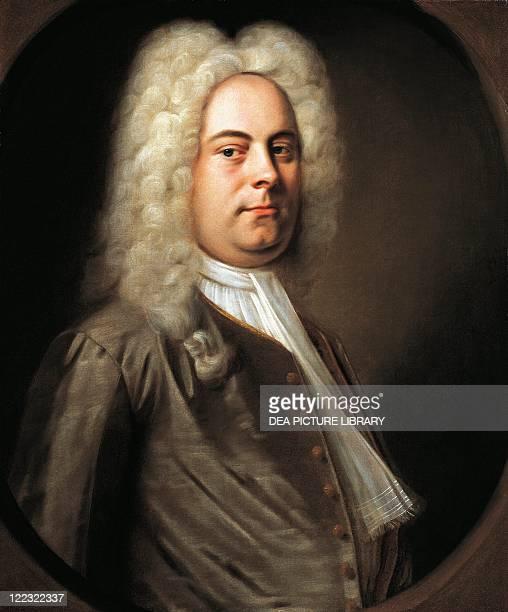 Attributed to Balthasar Denner , Portrait of George Frideric Handel , German-English composer, 1726.
