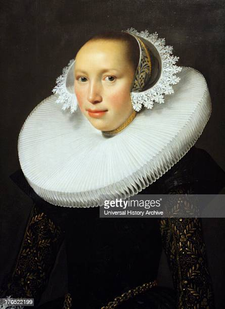 Attributed to Nicholas Eliasz also known as Pickenoy Portrait of a lady Oil on panel Dutch merchant class female painted around the 1630's Dutch...