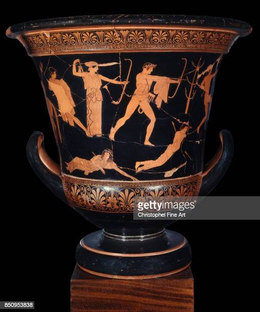 Attributed to Niobid Painter Greek Art Attic RedFigure Calyx Krater known as the 'Niobid Krater' Circa 460450 BC Paris musee du Louvre