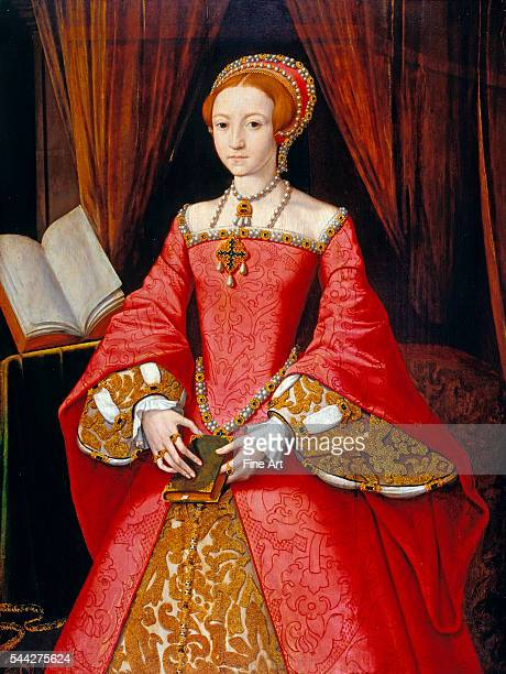 Attributed to William Scrots Elizabeth I as a Princess 15467 oil on panel Royal Collection London