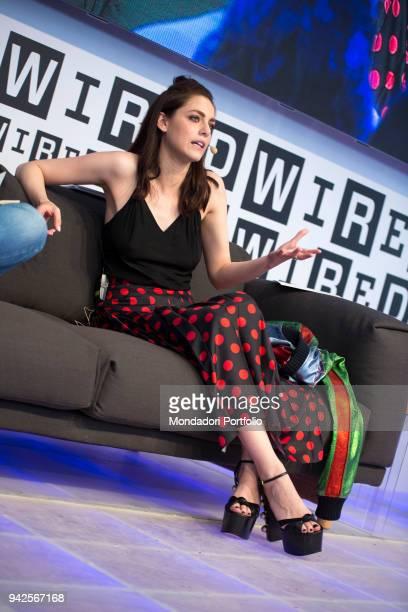L'attrice italiana Mirian Leone partecipa al Wired Next Fest ai Giardini Indro Montanelli Milano 28 maggio 2017