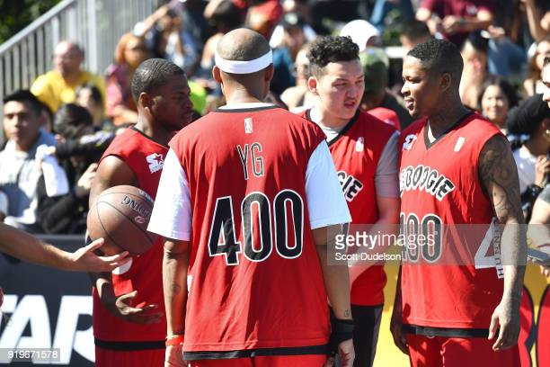 atttends his first annual Daytime Boogie Basketball Tournament at The Shrine Auditorium on February 17 2018 in Los Angeles California