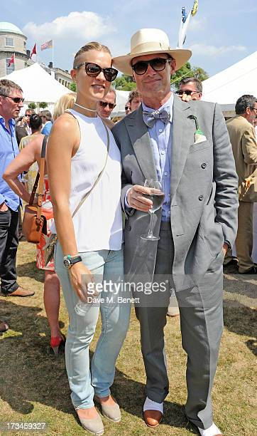Atty GordonLennox and AA Gill attend the Cartier Style Luxury Lunch at the Goodwood Festival of Speed on July 14 2013 in Chichester England