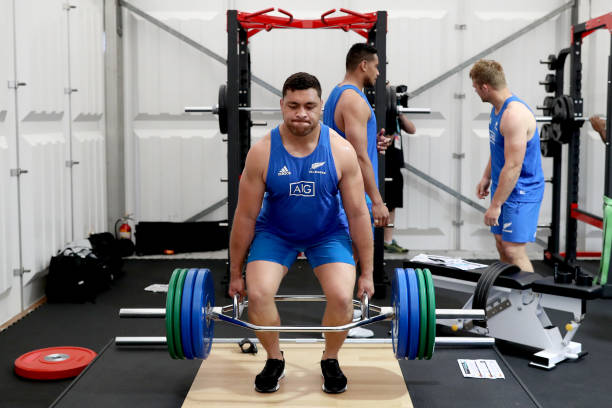 JPN: New Zealand All Blacks Gym Session