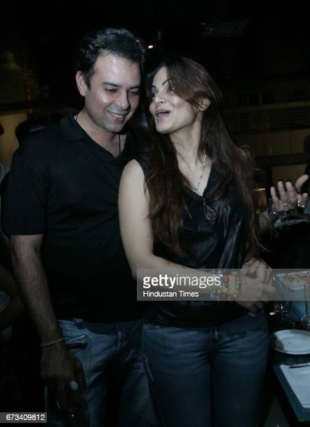 Atul Agnihotri with wife Alvira Khan Agnihotri at Monza Party
